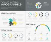 Vector percent infographics for creative data visualization