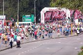 Many Runners And Spectators At Comrades Ultra Marathon