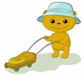 Teddy bear lawnmower