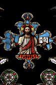 Jesus Christus – Fenster gebeizt