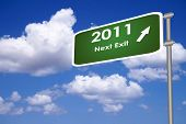 2011 next exit sign post