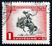 Postage Stamp Uruguay 1954 Horse Breaking