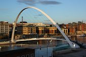 Gateshead Millennium Bridge At Sundown.