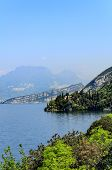 View of the mountains and forelands on Lake Garda, Northern Italy