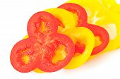 Fresh Red And Yellow Peppers.