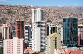 Skyscrapers of La Paz in Bolivia