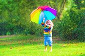 Little Girl With Umbrella