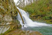 stock photo of abram  - Abrams Falls in the Smoky Mountains on a Cloudy Day