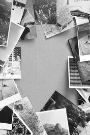 pic of analogy  - Black and white analog photos vintage background - JPG
