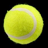Lawn Tennis Ball Isolated On Black Background