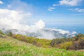 Cloudscape in the mountains Ai-Petri