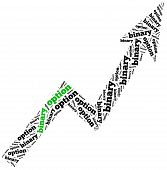 Word Cloud Illustration Related To Binary Option Growth.