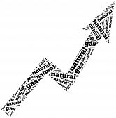 Natural Gas Commodity Price Growth. Word Cloud Illustration.