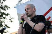 The Politician Sergei Udaltsov On Meeting In Support Of Political Prisoners