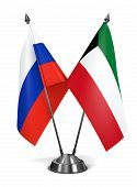 Russia and Kuwait - Miniature Flags.