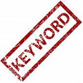 Keyword rubber stamp