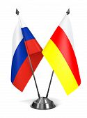 Russia and South Ossetia - Miniature Flags.