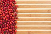 Rosehip On A Bamboo Mat