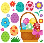Easter eggs thematic image 2 - eps10 vector illustration.