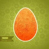 Easter Egg Made Of Flowers, Floral Easter Egg Background. Happy
