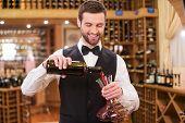 Wine Expert At Work.