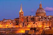 Valetta by night, Malta