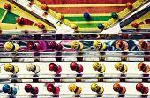Colorful Amusement Park Lights Close Up - Retro
