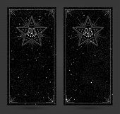 Banners with beautiful starry sky