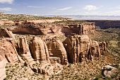 stock photo of semi-arid  - A view of Colorado National Monument from Rim Rock Drive - JPG