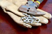 Old Glove And Tacks