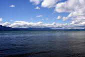 Beautiful blue Lake Tahoe