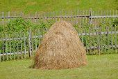 haystack and fence in Sinjajevina mountain, Montenegro