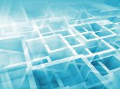 Abstract 3D Background With Chaotic Cubes Pattern