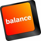 Balance Word On Computer Keyboard Key Button