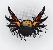 Постер, плакат: Элемент дизайна боулинг мяч