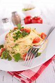 spaghetti and vegetable
