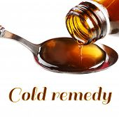 stock photo of cough syrup  - Cough syrup - JPG