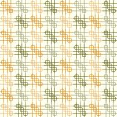 Orange And Dark Green Rounded Corner And Line Pattern On Pastel Background