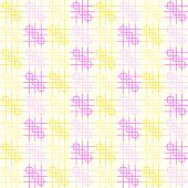 Pink And Yellow Rounded Corner And Line Pattern On Pastel Background