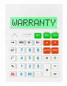 Calculator With Warranty