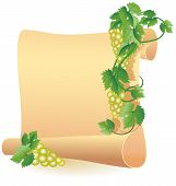 Parchment For Your Text And Grapes