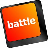 Battle Button On Computer Keyboard Pc Key