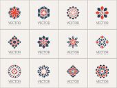 stock photo of symbols  - Geometric logo template set - JPG