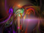 image of one Digital Fractal raster background