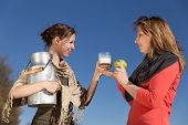 Two Women With Healthy Food