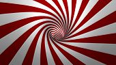 stock photo of hypnotic  - Hypnotic spiral or swirl making red and white background in 3D - JPG