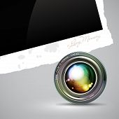 camera lens with photos