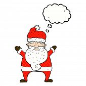pic of ugly  - cartoon ugly santa claus with thought bubble - JPG