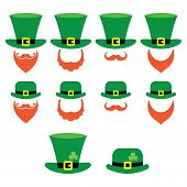 picture of faceless  - Vector icons set of Leprechaun - JPG