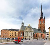 Riddarholmen Church Tower At Stockholm, Sweden